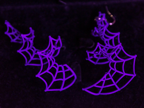Spiral Spider Web Earrings in Purple Strong & Flexible Polished