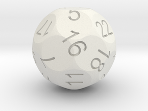 Alt D22 Sphere Dice in White Strong & Flexible