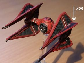8 Royal TIE Interceptor Wings in Frosted Ultra Detail