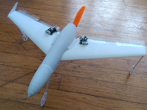 Mach 4 Micro Flying Wing in White Strong & Flexible
