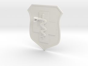 5x5.6 inch MEDIC BADGE in White Strong & Flexible
