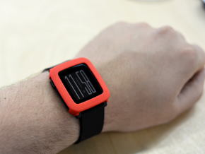 Pebble Time cover / bumper in Red Strong & Flexible Polished
