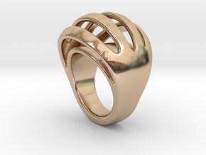 RING CRAZY 32 - ITALIAN SIZE 32  in 14k Rose Gold Plated