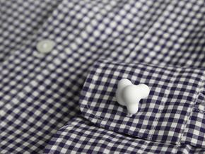 Cumulus Cufflink #503 in White Strong & Flexible