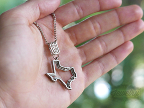 Staggered Texas Pendant in Polished Nickel Steel