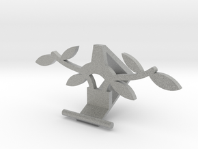 Universal Phone Stand- leaf Design in Metallic Plastic