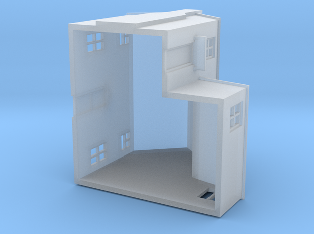 T Gauge House (with porch) 3d printed