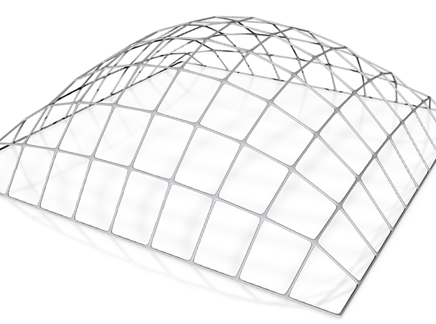 Shell Structure (Otto Frei) (162mmx162mm) 3d printed