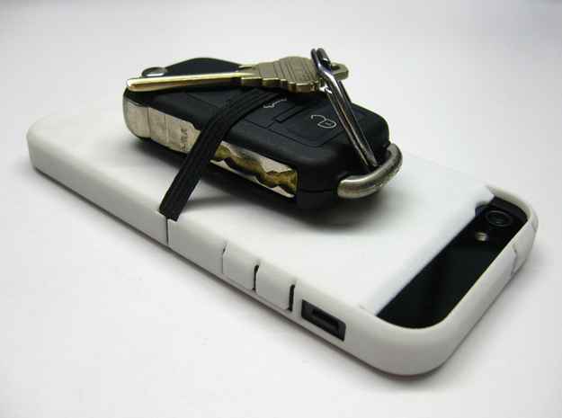 "Cariband case for iPhone 5/5s, ""holds stuff"" 3d printed Cariband Holds Keys"