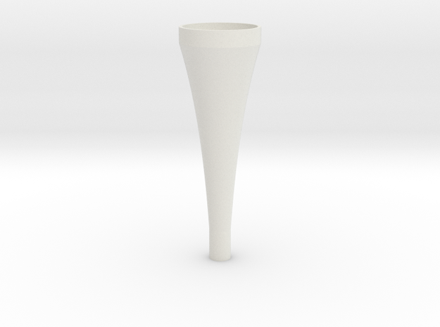 exponential horn 3d printed