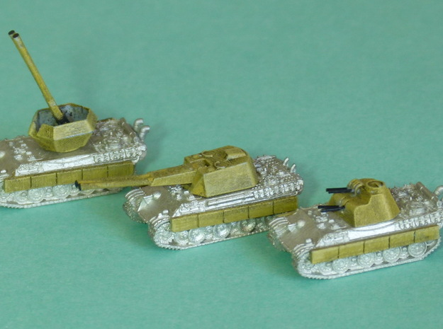 Flakpanther, 3 diff. Turrets 1/285 6mm