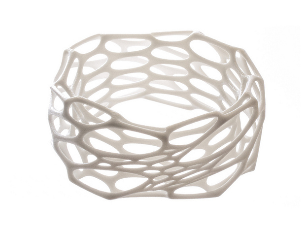 Interstice Bracelet 3d printed in white strong and flexible polished