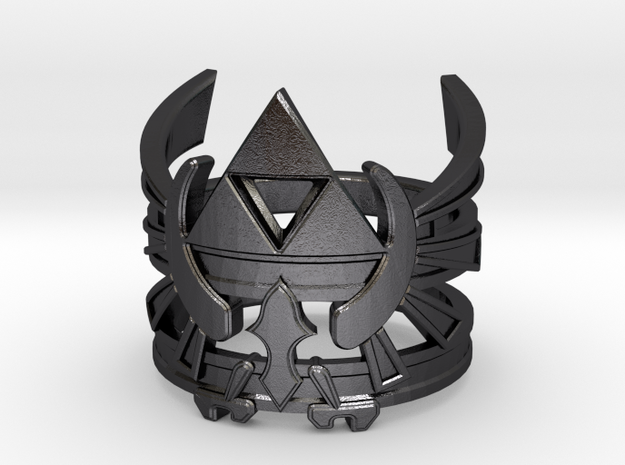 Triforce ring - Zelda - medium sizes (15 to 22) 3d printed