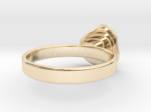 Gold Mine Ring - UK M (inside diameter 16.71mm) 3d printed