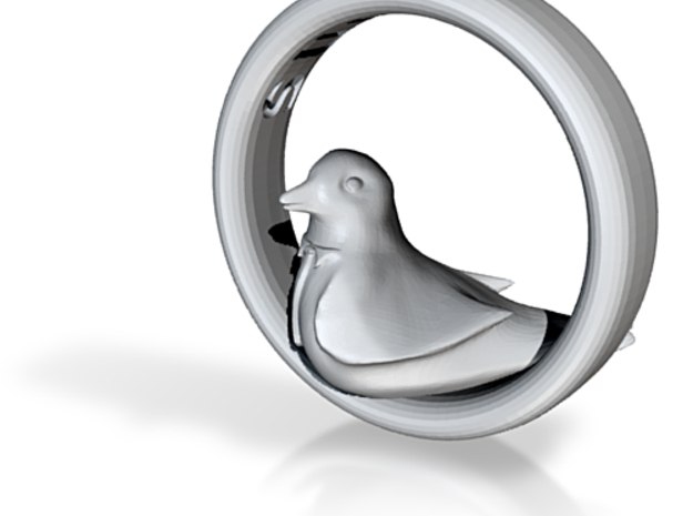 Reverse Bird Ring 3d printed