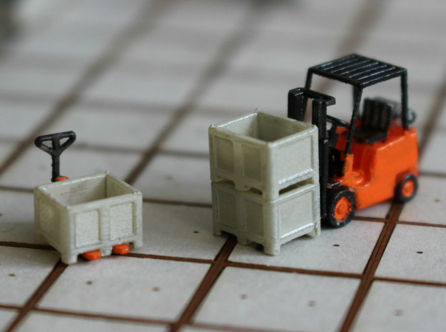N Scale Palletbox (4pc)