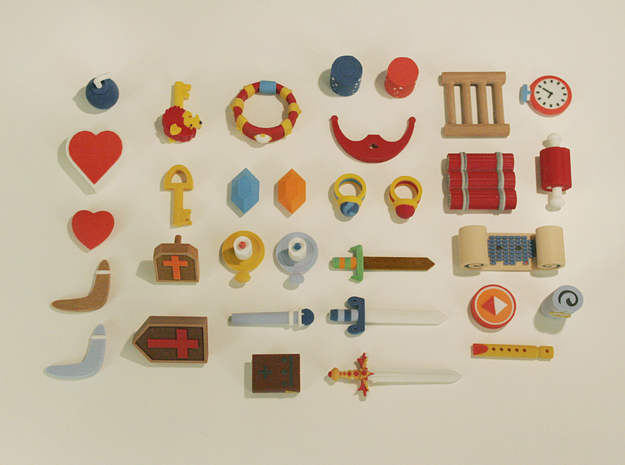Zelda Fan Art: TLoZ: Complete Item Set 3d printed