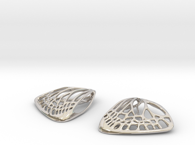 Butterfly Earrings (S) 3d printed