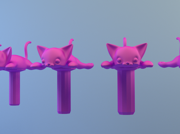Flat Cat, Jack Protector Audio 3d printed