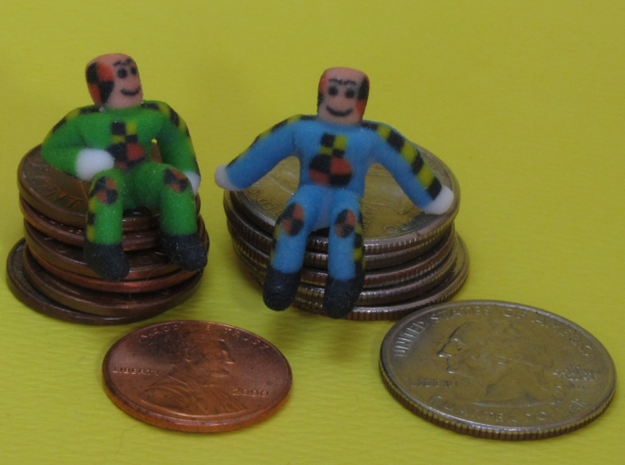 Happy Little Crash Test Dummies 3d printed