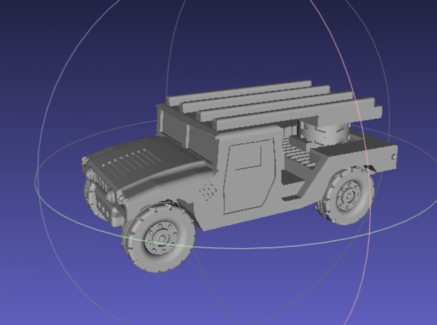 1/144 Humvee SL-AMRAAM moving position (Single Pac 3d printed