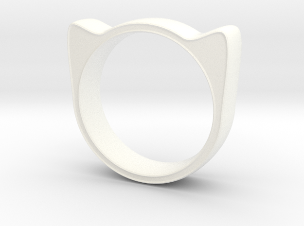 Meow ring 17mm 3d printed