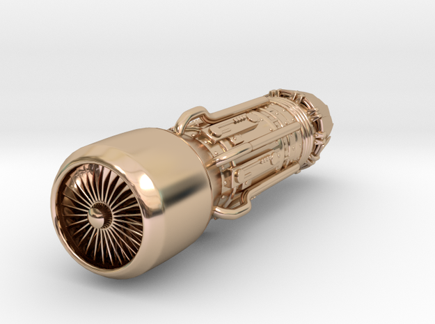 Jet Engine Keychain 3d printed