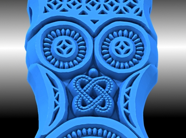 Theodore's Owl Pendant 3d printed