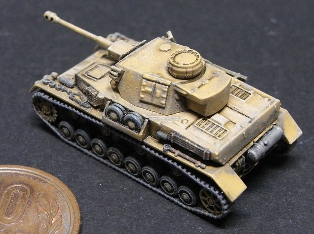 1/144 PzKpfw IV ausf.G (Middle Type) 3d printed