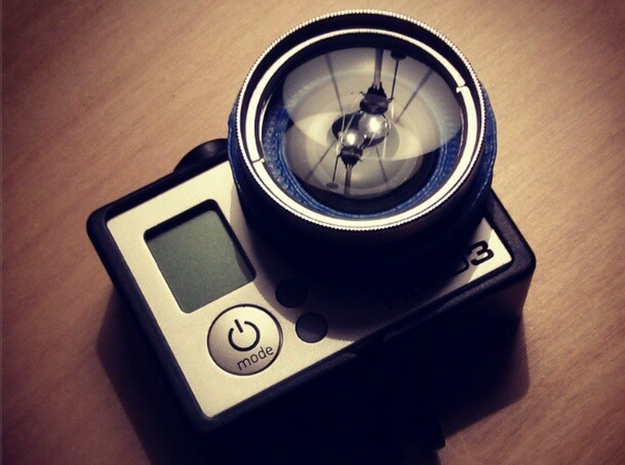 37mm Filter Adaptor for GoPro 3d printed Macro lens attachment