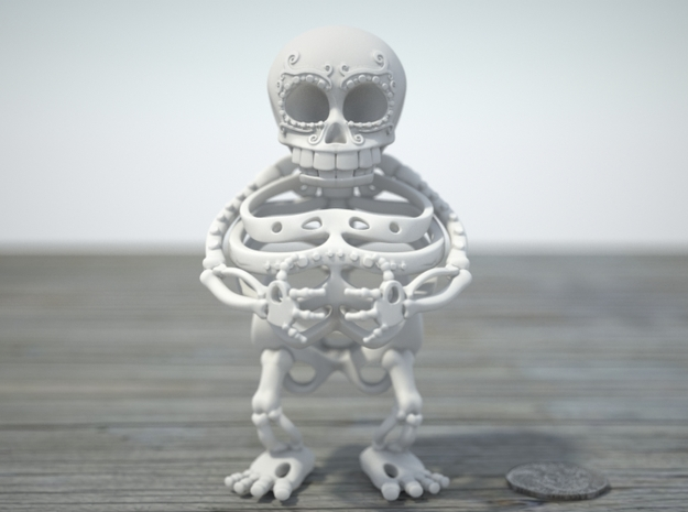 Daisy de los Muertos -Second Layer 3d printed Front