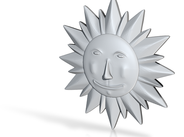 Ceramic Sun Decoration 3d printed