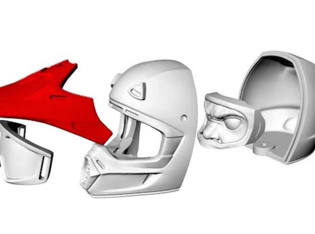 WW10001 Wild Willy Moto Visor 3d printed Purchase only includes red part. See link below to purchase the complete figure