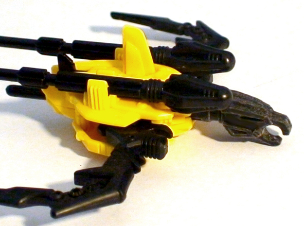 BH Archer Warhead Bow Upgrade Missile 3d printed Black Detail print in the original toy missile launcher