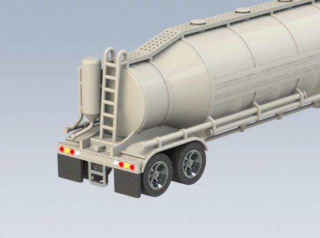 HO 1/87 Dry Bulk Trailer 03 with cyclone 3d printed A CAD render.