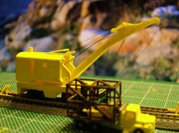 Brownhoist MOW Crane - Zscale 3d printed Photo thanks to Walter Smith