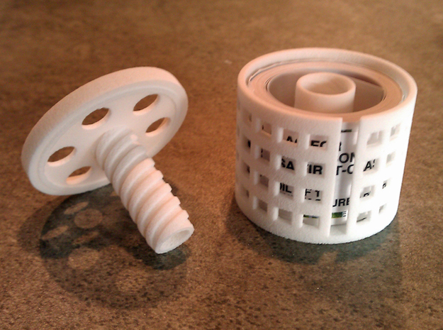 *stamp roll dispenser The Postmaster 3d printed