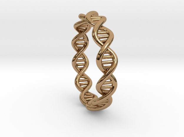 DNA Ring 3d printed