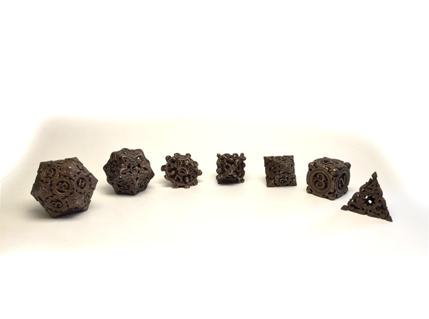 Steampunk Polyhedral Dice Set
