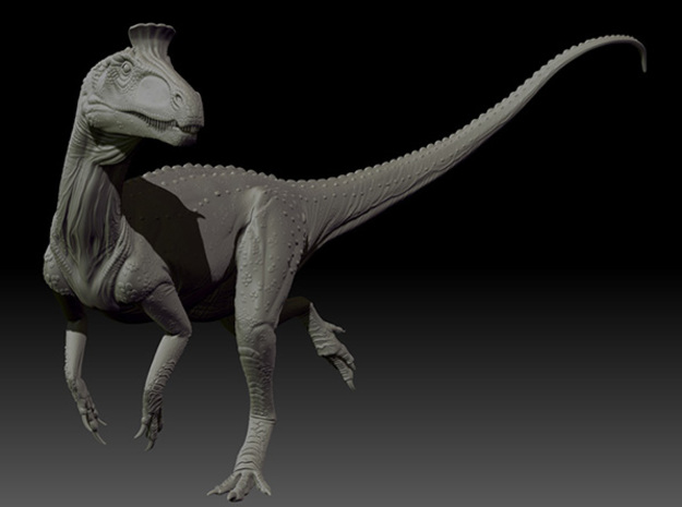 1/72 Cryolophosaurus - Running 3d printed Zbrush render of final sculpt