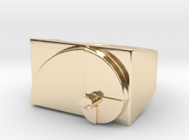 Golden Ratio Ring 3d printed