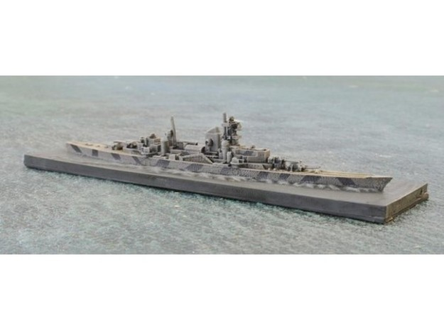Admiral Hipper 1939 1/1800 Scale w/Integrated Base 3d printed Admiral Hipper