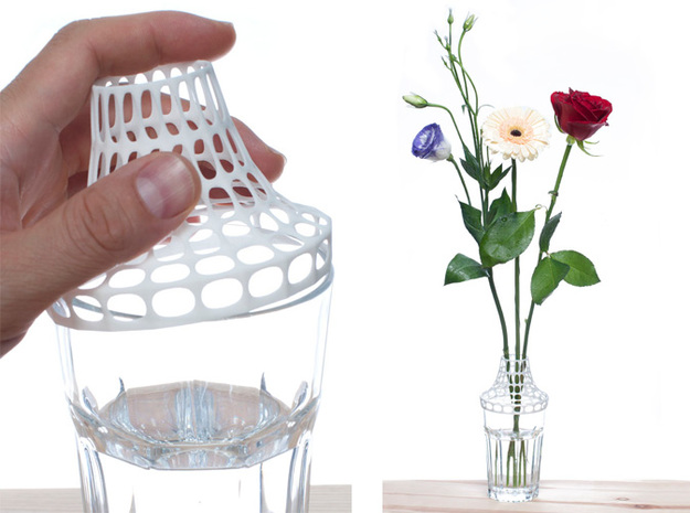 Clip on vase 3d printed Clip on IKEA Pokal glass