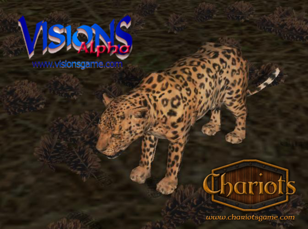 Leopard miniature 3d printed Leopard from Visions and Chariots - screenshot from Visions alpha