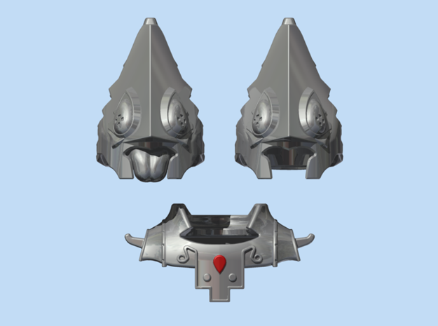 Usuper King Headpiece 3d printed Render
