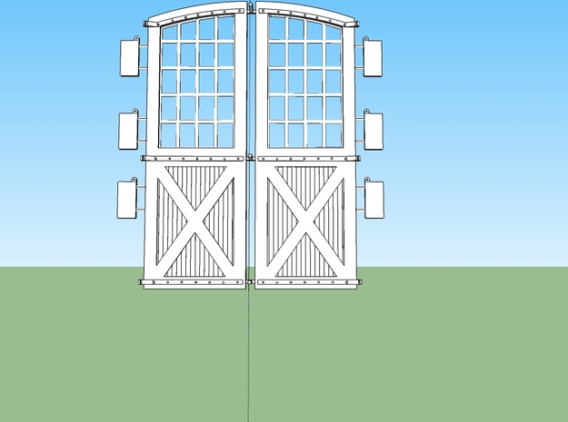 DSP&P Gunnsion Roundhouse Door set O 3d printed Stalls 1,3,4, and 6 had this style door