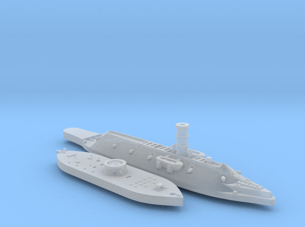 1:1200 Ironclad USS Monitor & CSS Virginia