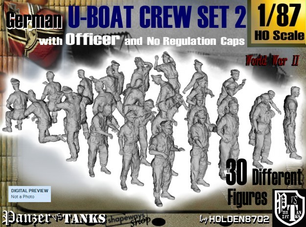 1-87 German U-Boot Crew Set2