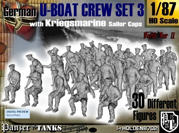 1-87 German U-Boot Crew Set3