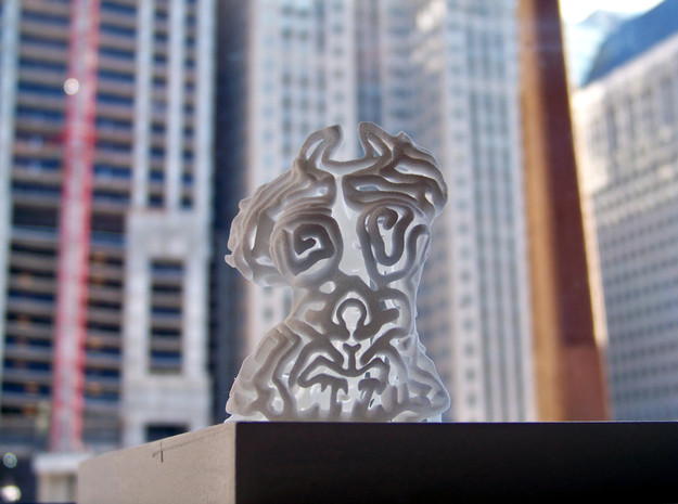 Female Deity from NY to Chicago 3d printed Photo by Joe Carr